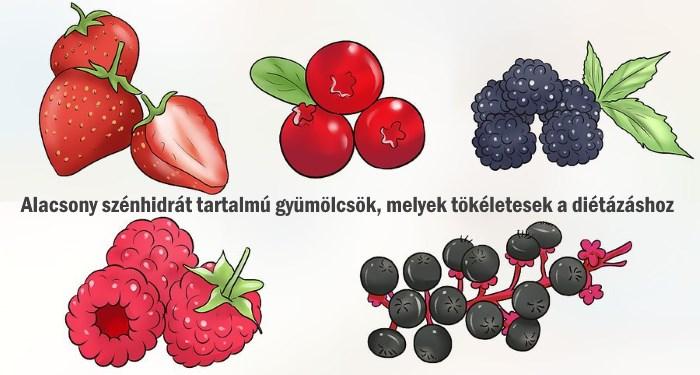 alacsony szénhidráttartalmú diéta gyümölcsök