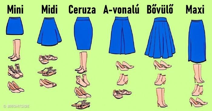 tavaszi női cipő szoknyához