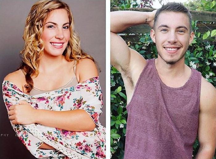 fogyás előtt és után jóképű férfiak